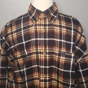 Ivy Crew Long Sleeve Plaid Shirt L Blue Red